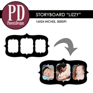 "Image of Storyboard ""Lizzy"" - 16x24/8x12"