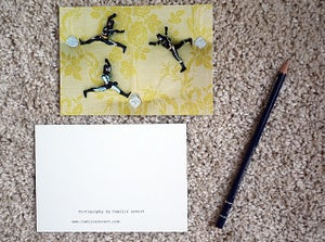 Image of Toy postcard - Three batmen