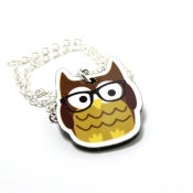 Image of Nerdy Owl Necklace