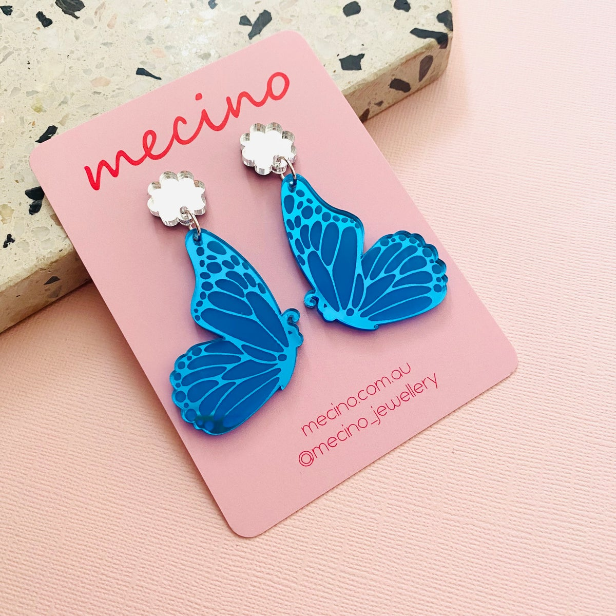Image of Butterfly Wings - Mirrored Blue