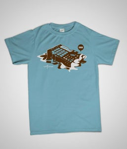 Image of 'CACAO' T-shirt (blue)