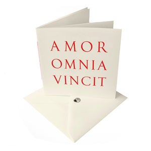Image of 'AMOR OMNIA VINCIT' [Love Conquers All] latin LOVE card