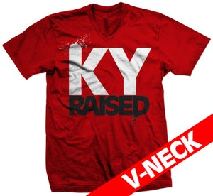 Image of KY Raised V-Neck in Red/White/Black