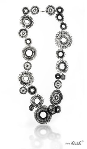 Image of black spiro necklace