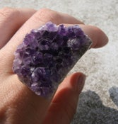 Image of ASTRAEA Amethyst cluster ring