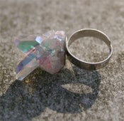 Image of ASTRAEA large opal aura crystal ring
