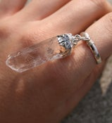 Image of ASTRAEA crystal charm ring