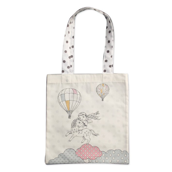 Image of Sac en coton enfant Fille et poney