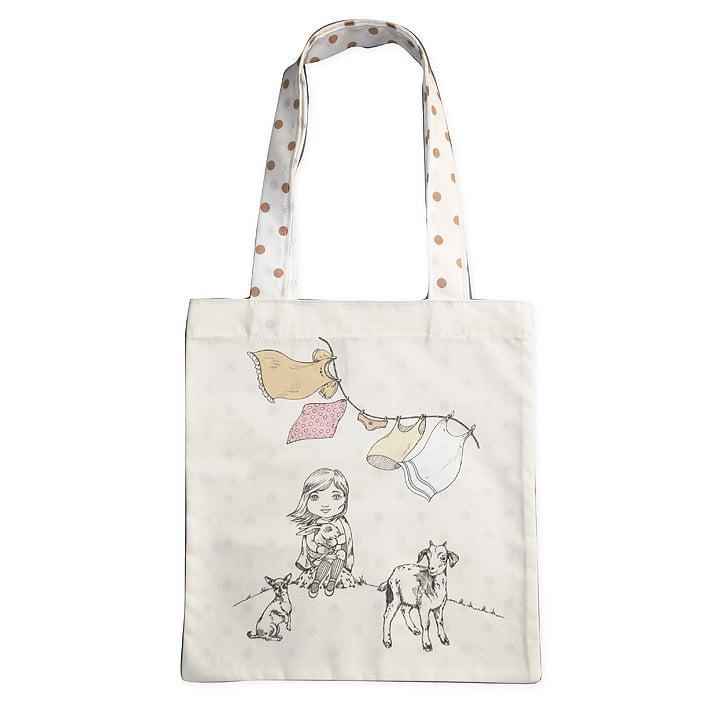Image of Sac en coton enfant Fille et les animaux