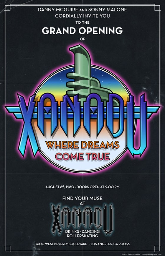 Image of Xanadu Grand Opening Poster