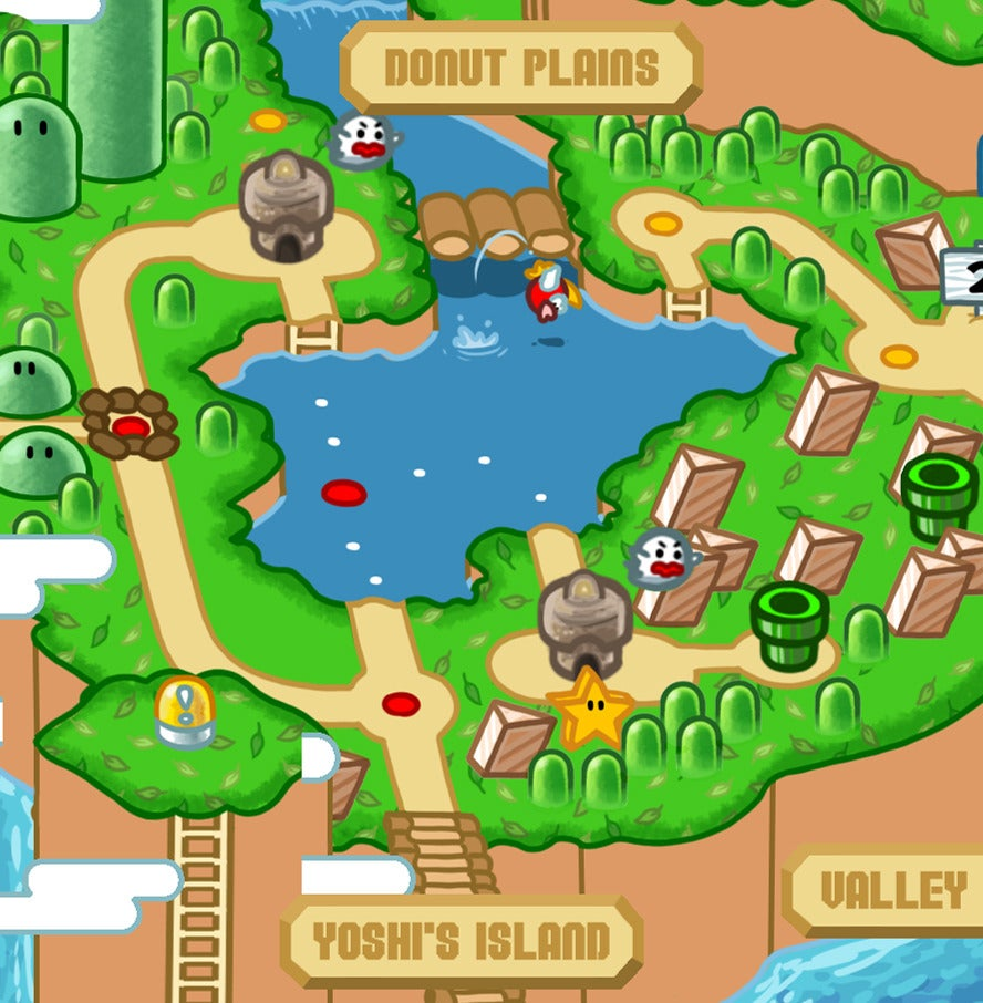 Mushroom Kingdom Map Whaddaya Buyin