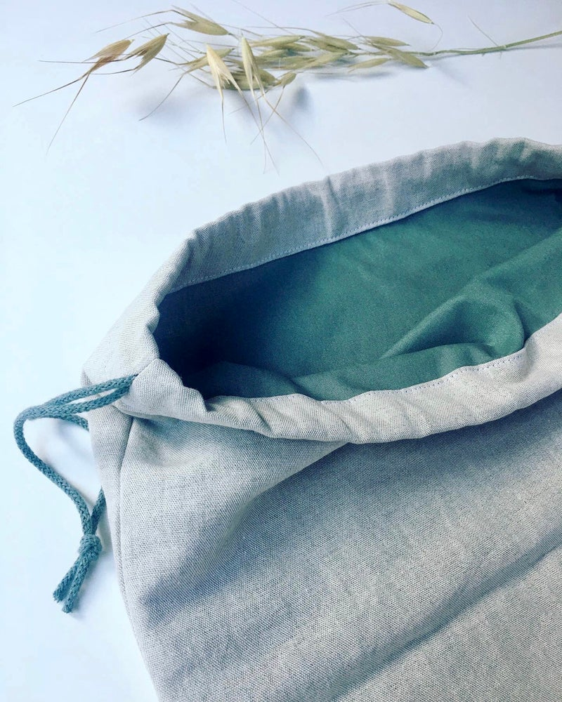 Image of Double Layer Linen and Cotton Bread Bag - Pick your print