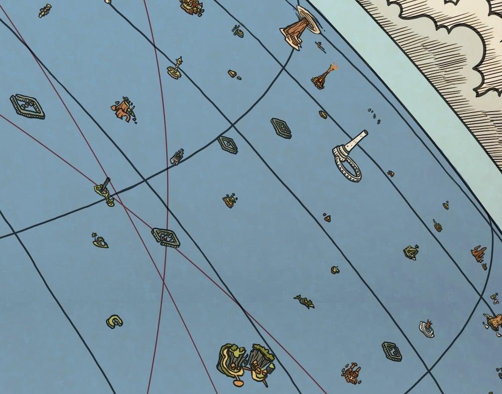 Image of NES Hyrule Map (Overworld)
