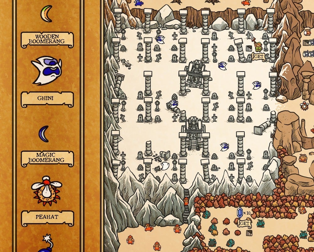 NES Hyrule Map (Overworld)