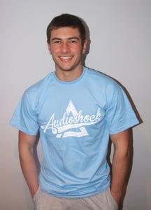 Image of RETRO Tshirt - SKY BLUE