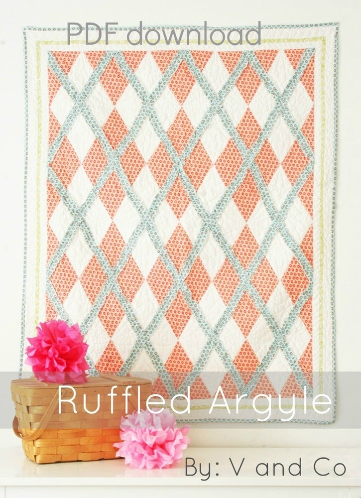 V And Co Ruffle Argyle Quilt Pdf Pattern