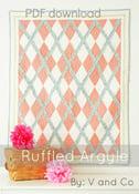 Image of Ruffle Argyle Quilt-PDF PATTERN