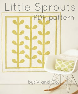 Image of little sprout PDF pattern by V and Co.