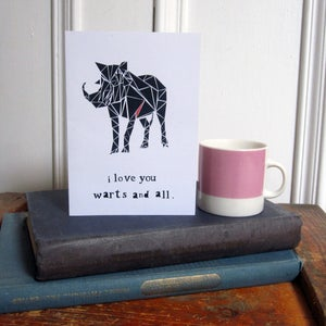 Image of 'I Love You' Greetings Card