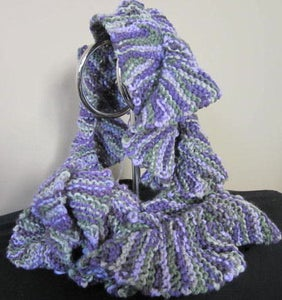 Image of Variegated Impeccable Acrylic Flutter Scarf Colourway 1