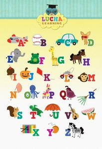 Image of English Alphabet Poster (Blue)