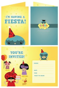 Image of Party Invitations (Blue)