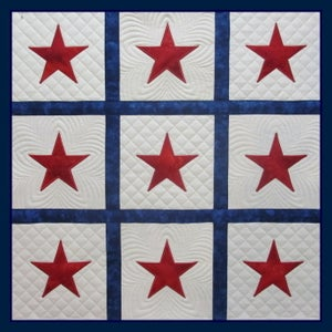 Image of 2-3-4 inch Stars Quilted In The Hoop