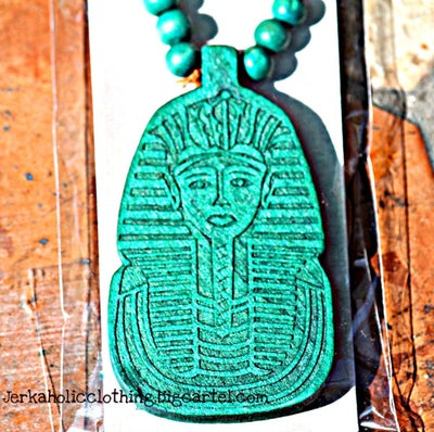 Image of ALL NEW GREEN KING TUT NECKLACE