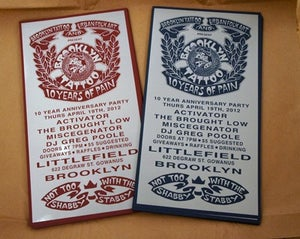 Image of Brooklyn Tattoo 10th Anniversary Posters