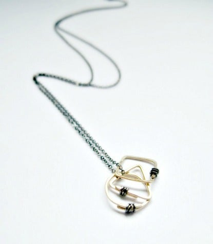 Image of geometrics cluster necklace