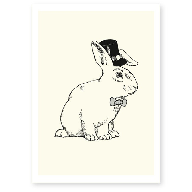 Image of Affiche A4 Lapin magicien