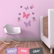 Image of Butterfly Flurry Fabric Decal