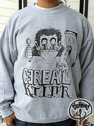 Image of GREY CEREAL KILLER CREWNECK