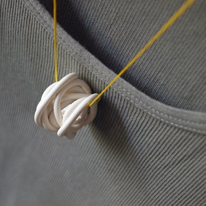 Image of MONO° white/yellow necklace #2