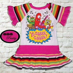 Image of **SOLD OUT** Yo Gabba Gabba Ruffle Sleeves Dress - Size 18/24 months