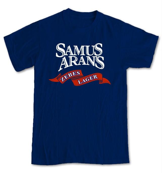 Image of Samus Aran's Zebes Lager T-Shirt