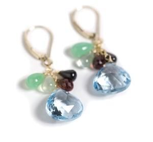 Image of Blue Topaz drop Earrings