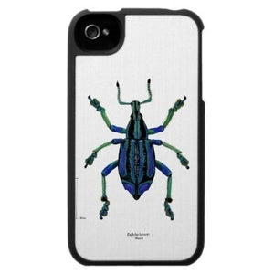 Image of Scientific Illustration insect/beetle iphone case