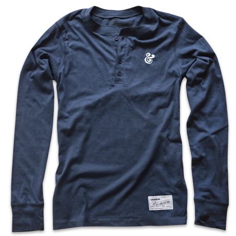 Image of PREMIUM AMPERSAND HENLEY (NAVY)