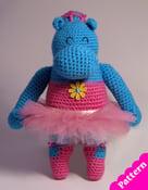 Image of Ballerina Hippo Pattern