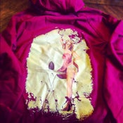 Image of Vintage Pin-Up Cranberry Hoody dress
