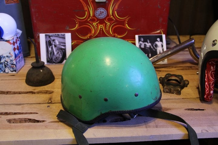 Image of Green Vintage Helmet- Small