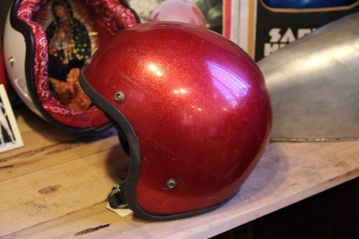 Image of  3/4 Helmet Red Flake- Medium