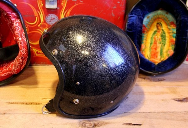 Image of 3/4 Helmet Black Flake