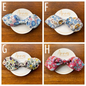 Image of Liberty Print Bow Scrunchie