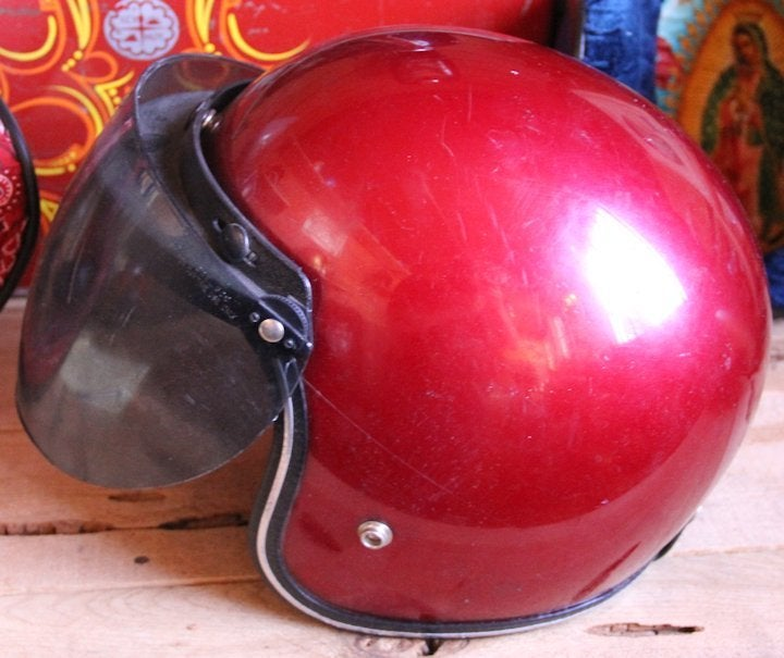 Image of 3/4 Helmet Red w shield