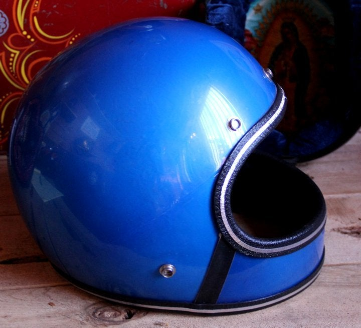 Image of Full Face Blue Helmet
