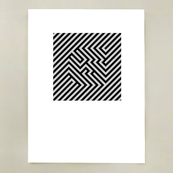 Image of G (Zebra Bold) Screen Print Limited Edition