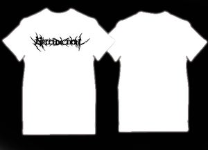 Image of Mallediction black logo(white T-shirt)