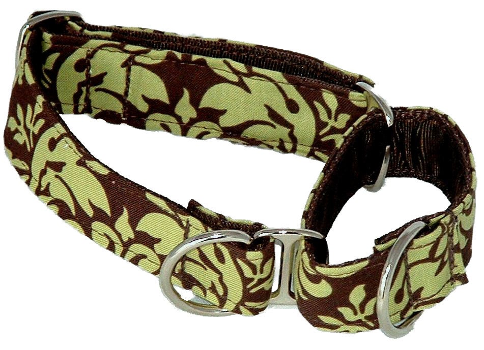 Green Damask Martingale Collar